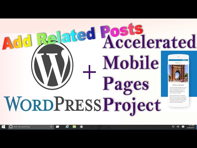 AMP + WordPress : Add 'AMP' Related Posts to Accelerated Mobile Pages without Plugin