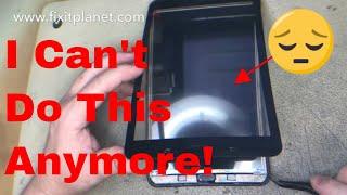 Zapętlaj Galaxy Tab E SM-T377A Screen Repair From Start To Finish. | Fix It Planet