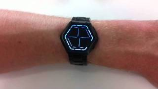 Kisai Night Vision Black Blue LED Watch Design From Tokyoflash Japan