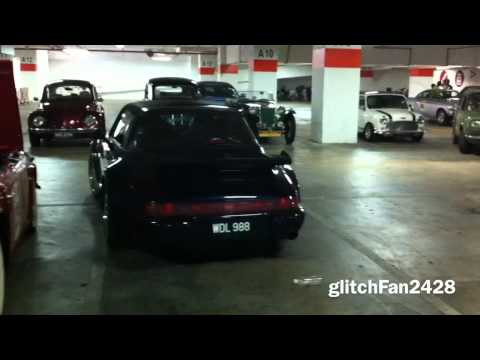 Many Classic/Vintage Cars Starting Up Underground In Malaysia