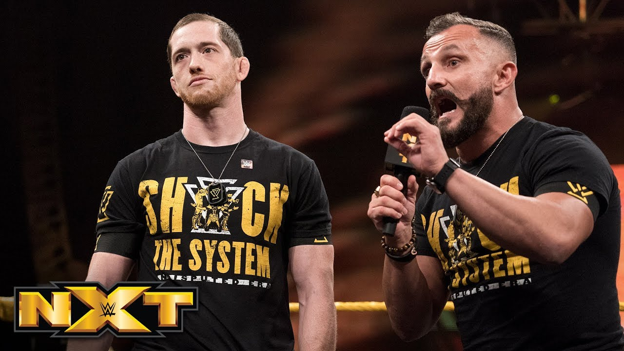 Street Profits and Undisputed ERA sign NXT Tag Team Title Match contract: WWE NXT, Aug. 7, 2019