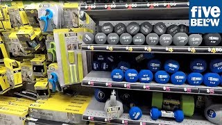 FIVE BELOW EXERCISE AND FITNESS SECTION - FITNESS EQUIPMENT WEIGHTS WORKOUT TRAIING ACCESSORIES