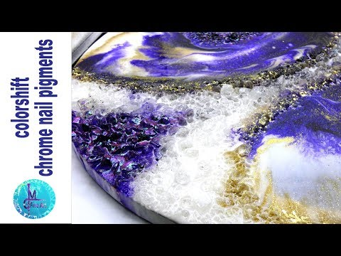 Round Resin Geode / Agate look with glass, glitter and mrs. colorberry resin pigments