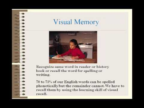 Learning Disabilities There is a Cure: Developing Visual memory