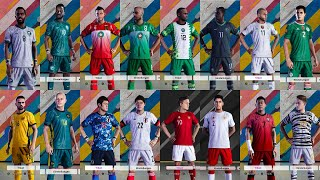 African And Asian National Team Football Kits