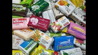 100 Soap opening HAUL.Unpacking soap.MADE IN RUSSIA Асмр розпакування мила # 17