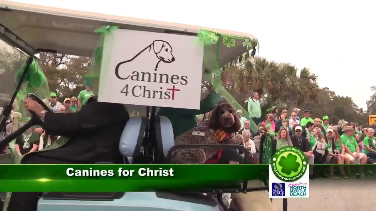Canines4Christ in the North Myrtle Beach St. Patrick\'s Day Parade ...