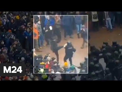 На Пушкинской площади начались провокации против полиции - Москва 24