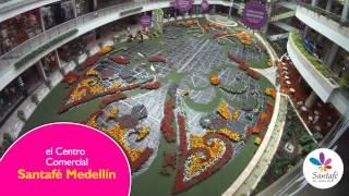 Centro Comercial Santafé Medellín - El tapete de flores más grande de Colombia.