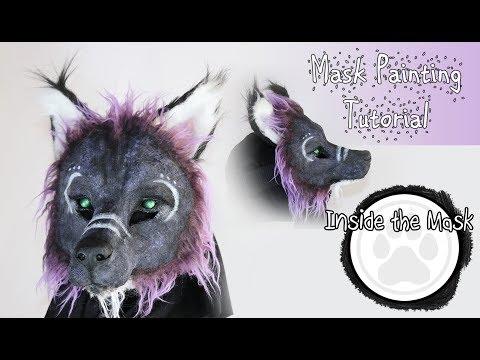Hitodama the Spirit Wolf Mask - Painting Tutorial