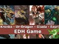 Krenko vs Ur-Dragon vs Gisela vs Ezuri EDH / CMDR game for Magic: The Gathering