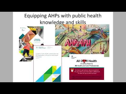 The Evidence Supporting the Contributions of Allied Health Professionals in Public Health