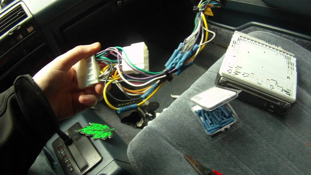 maxresdefault how to install an aftermarket stereo youtube Wiring Harness Diagram at gsmx.co