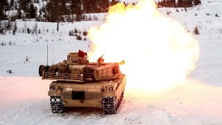 Monstrously Powerful M1 Abrams & Leopard 2 Tanks in Action - Heavy Live Fire in Wintertime