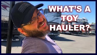 What's a TOY HAULER? Preview God's Adventure Episode 2 | RVing | RV Shopping | Going on Faith