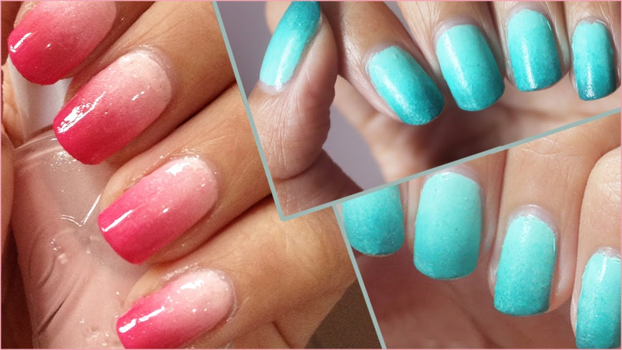 back2basic ombre nails