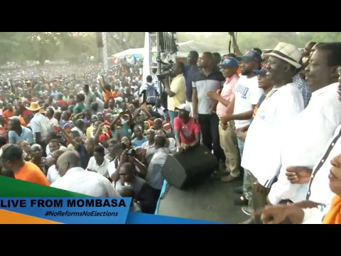 Reiterating our stand as a Coalition in Mombasa #NoReformsNoElections