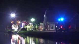 Prio 1 WO Schoonhoven 16-3310 naar ernstig ongeval in Leerbroek