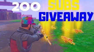 Fortnite Battle Royale: 200 Subscriber Giveaway! How To Enter! Fortnite Save The World PVE