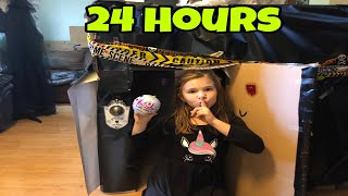 24 Hours In A Halloween Box Fort!