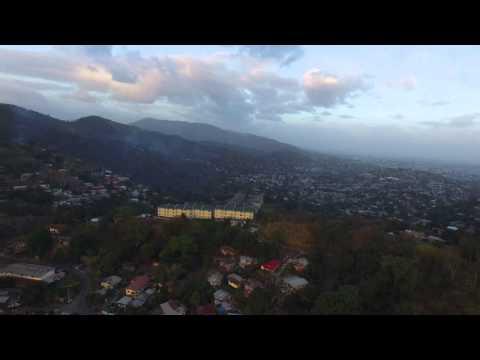 Aerial Port of Spain View