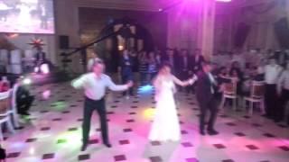 Свадебный танец попурри на русской свадьбе в Баку 08.02.2014
