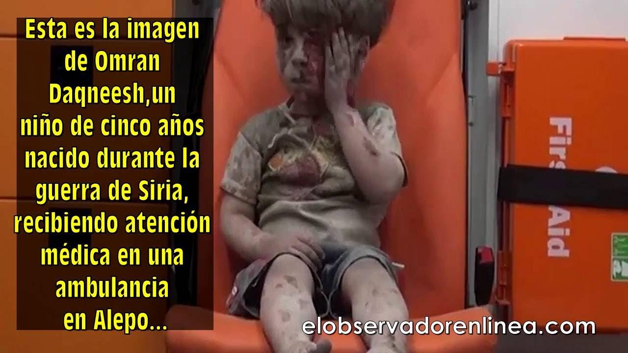 siria niño ambulancia alepo