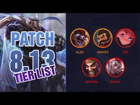 League of Legends Mobalytics Patch 8.13 Tier List: Brand OP