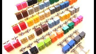 How to Make Cufflinks from LEGO bricks and making other novelty cuff links at home