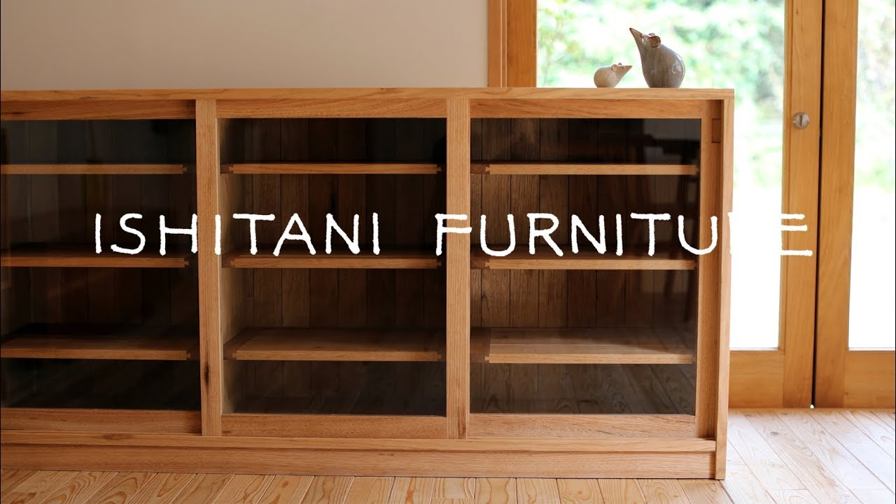Ishitani Making A Cupboard With Glass Sliding Doors