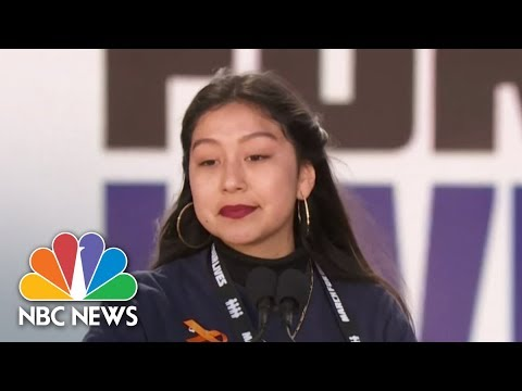 Student Edna Chavez: 'I've Learned To Duck From Bullets Before I Learned How To Read'   NBC News