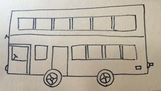 來! 跟我一起繪畫雙層巴士 . COME WITH ME DRAW A double decker bus