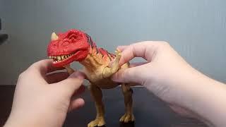 Обзор игрушки мир юрского периода 2 Цератозавр (Ceratosaurus)