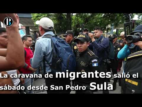 Migrantes Hondureños lograron entrar por la fuerza a México