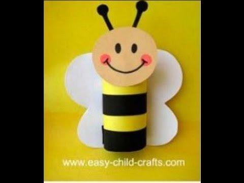 Super Fun Preschool Spring Crafts - Easy Craft Ideas  Made with Toilet Paper Roll  + Tutorial .