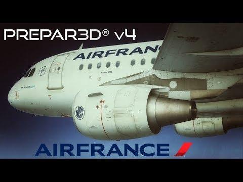 [Prepar3D V4] Project Airbus A318 Air France Realistic Landing in Paris CDG