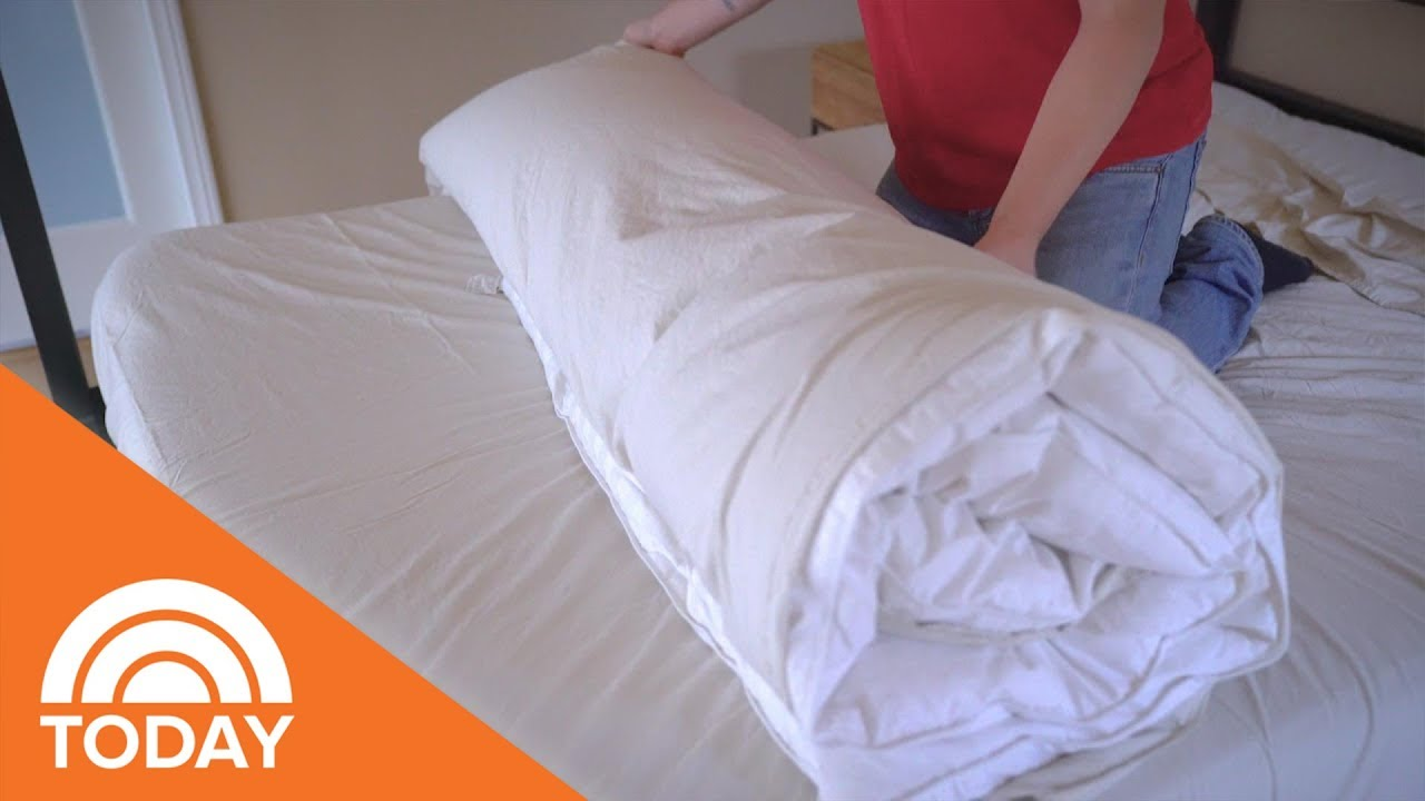easy way to put on duvet cover