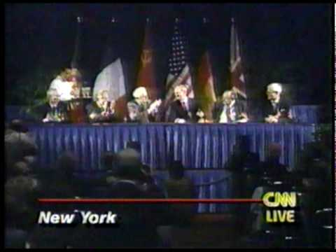 CNN Oct 1 1990 German unification, Signing of the Declaration by the four powers