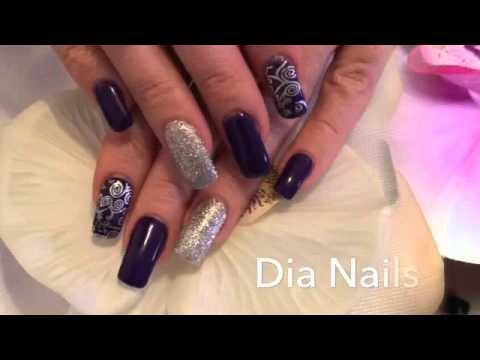black nail schwarze geln gel nail art youtube. Black Bedroom Furniture Sets. Home Design Ideas