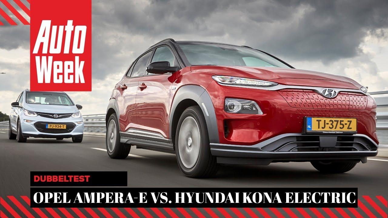 Hyundai Kona Electric Vs Opel Ampera E Autoweek Dubbeltest