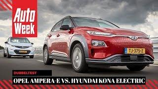 Hyundai Kona Electric vs. Opel Ampera-e - AutoWeek Dubbeltest - English subtitles
