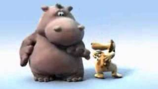 Nilpferd und Hund