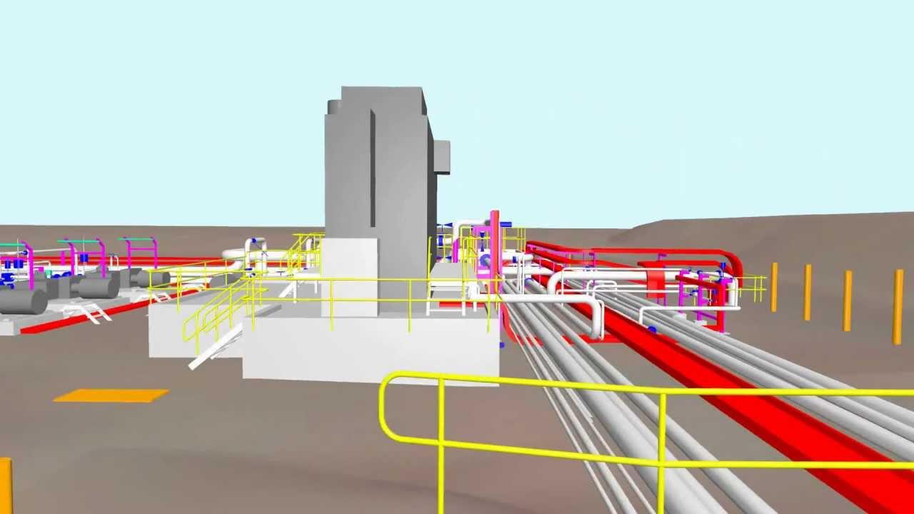 Oil & Gas Plant 3D Model
