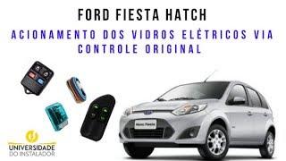 Ford Fiesta acionamento dos vidros elétricos