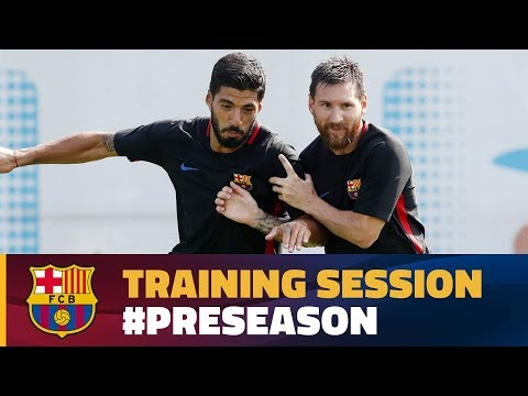 FC Barcelona training session: Morning workout at Ciutat Esportiva