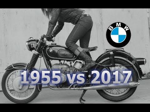 La evolución de BMW: 1955 (R50) vs 2017 (R NineT Racer)