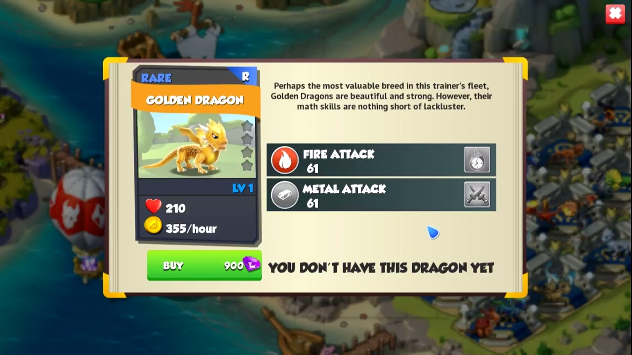 how to make a golden dragon in dragon mania legends