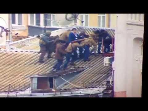 Задержание Саакашвили на крыше дома