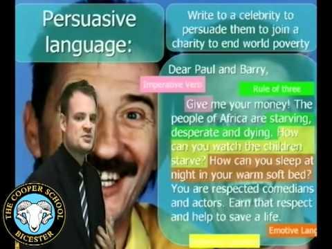 Gcse writing a persuasive speech