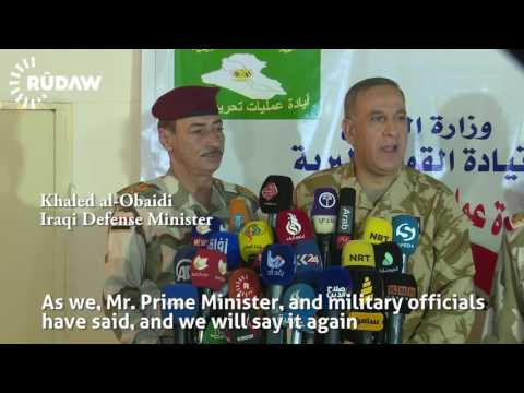 Iraqi leaders visit Makhmour frontline to prepare for Mosul